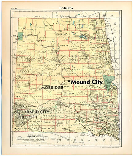 The Vojta family established a homestead near Mound City in what is now north-central South Dakota