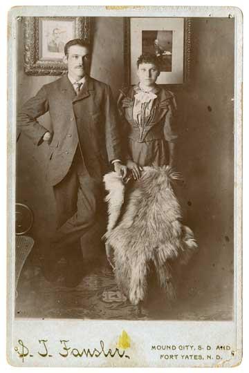 Frances Kalda and Thomas Vojta married in Tyndall, South Dakota in 1896