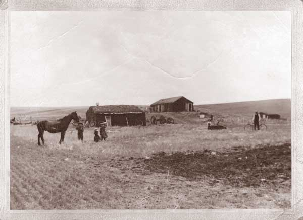 The original Vojta family homestead near Mound City, South Dakota