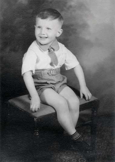 Ralph Vojta as a young boy