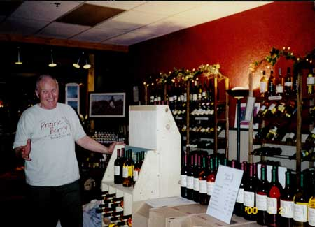 Ralph poses in a Rapid City, South Dakota, retailer not long after Prairie Berry Winery relocated to West River.