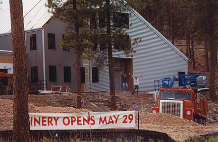 Construction nears completion on the exterior of the Prairie Berry Winery's current location near Hill City, South Dakota