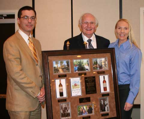 Matt, Ralph, and Sandi pose with the 2011 Heritage Family Business of the Year award