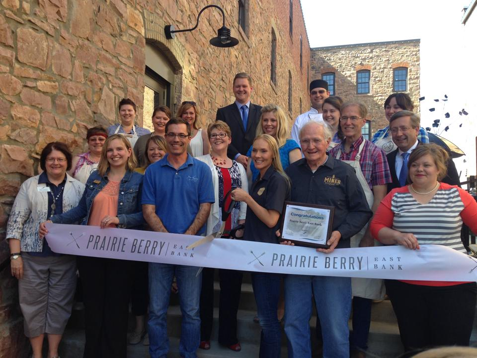 A ribbon cutting ceremony to mark the opening of Prairie Berry East Bank in Sioux Falls, South Dakota