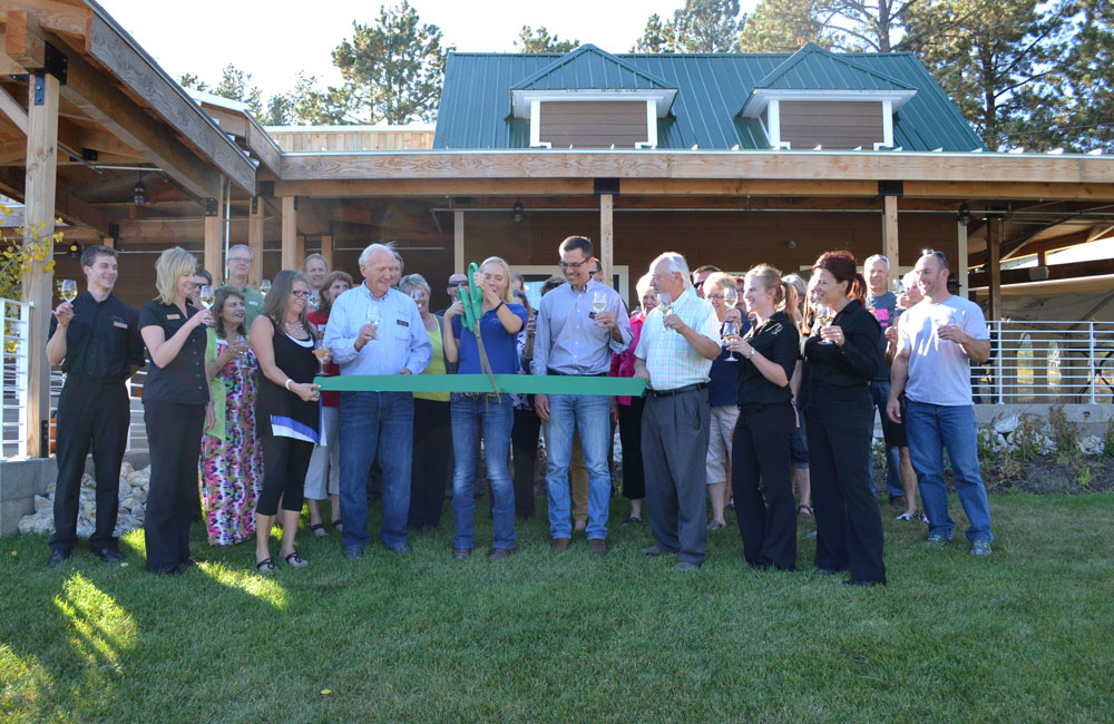 Ribbon cutting ceremony for The Homestead at Prairie Berry Winery, a premier private event space located near Hill City, South Dakota