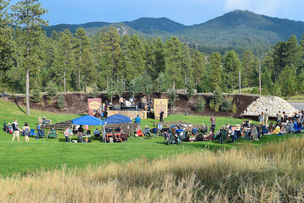 The Concert Lawn at Miner Brewing Company near Hill City, South Dakota